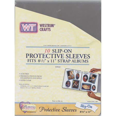 Westrim - Slip On Protective Sleeves - Fits 8.5 x 11 Strap Albums