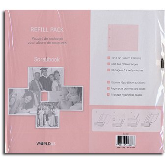 Worldus Scrapbook Refill Pack - 12 x 12, CLEARANCE