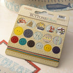 Websters Pages - Yacht Club Collection - Chipboard Stickers - Buttons and Twine