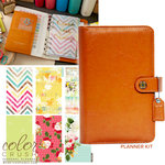 Websters Pages - Color Crush Collection - Personal Planner Kit - Caramel