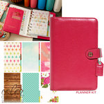 Websters Pages - Color Crush Collection - Personal Planner Kit - Dark Pink