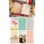 Websters Pages - Color Crush Collection - Personal Planner Kit - Gold, COMING SOON