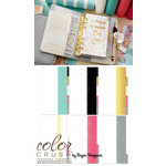 Websters Pages - Color Crush Collection - Personal Planner Kit - Teal and White Stripe, COMING SOON