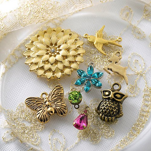 Websters Pages - Charm Set - Metal Embellishments