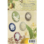 Websters Pages - Nature's Storybook Collection - Silhouettes - Self Adhesive Decorative Cameos