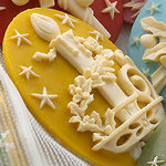Websters Pages - Silhouettes - Resin Cameo Pieces - Gold Candle