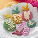 Websters Pages - Sunday Picnic Collection - Perfect Accents - Resin Cameo Pieces