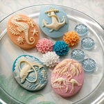 Websters Pages - The Palm Beach Collection - Perfect Accents - Resin Cameo Pieces