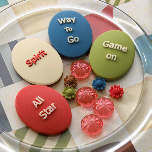 Websters Pages - Game On Collection - Perfect Accents - Resin Cameo Pieces