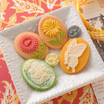Websters Pages - Park Drive Collection - Perfect Accents - Resin Cameo Pieces