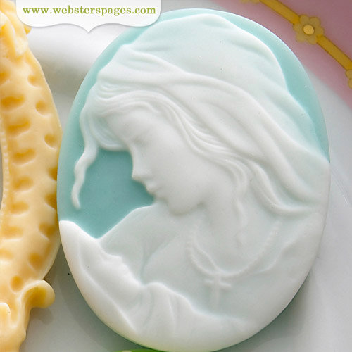 Websters Pages - New Beginnings Collection - Perfect Bulks - Resin Embellishment Pieces - Mother and Child Cameo