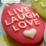 Websters Pages - Perfect Bulks - Resin Embellishment Pieces - Live Love Laugh Cameos - Pink