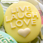 Websters Pages - Perfect Bulks - Resin Embellishment Pieces - Live Love Laugh Cameos - Yellow