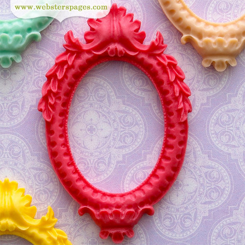 Websters Pages - Perfect Bulks - Resin Embellishment Pieces - Frame - Pink