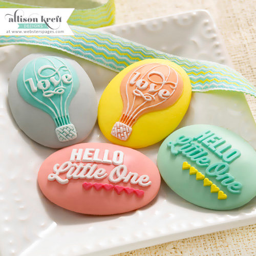 Websters Pages - Hello World Collection - Perfect Accents - Resin Embellishment Pieces