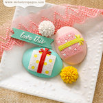 Websters Pages - Party Time Collection - Perfect Accents - Resin Embellishment Pieces