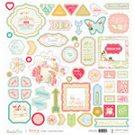 Websters Pages - Growing Up Girl Collection - 12 x 12 Chipboard Stickers