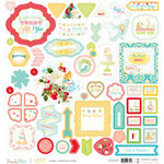 Websters Pages - Party Time Collection - 12 x 12 Chipboard Stickers