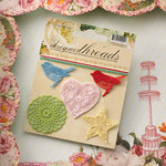 Websters Pages - Designer Threads - Fabric Embroidery Pieces - Shapes