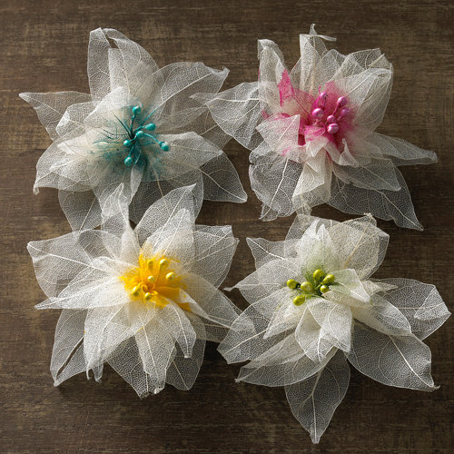 Websters Pages - Florettes - Fabric Flowers - Pinwheels