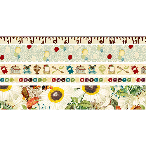 Websters Pages - WonderFall Collection - Fabric Ribbons