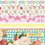 Websters Pages - Let's Celebrate Collection - Fabric Ribbons