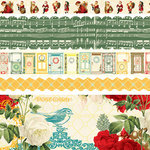 Websters Pages - A Botanical Christmas Collection - Fabric Ribbons