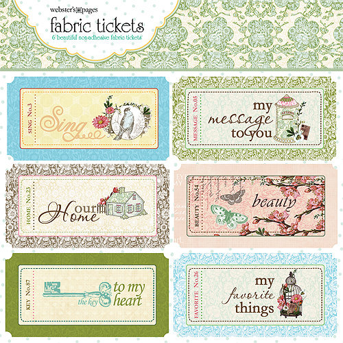 Websters Pages - Everyday Poetry Collection - Fabric Tickets