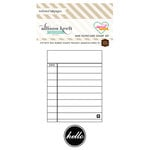 Websters Pages - Sweet Notes Collection - Cling Mounted Rubber Stamp Set - Mini Notecard