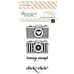 Websters Pages - Composition and Color - Cling Mounted Rubber Stamp Set - Snap and Click