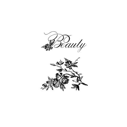 Websters Pages - Unity Stamp - Itty Bitty - Unmounted Rubber Stamp Set - Beauty