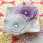 Websters Pages - Winter Fairy Tales Collection - Florettes - Fabric Flowers - Princess Petals
