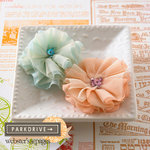 Websters Pages - Park Drive Collection - Florettes - Fabric Flowers - Mini - Perfect Petals