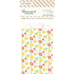 Websters Pages - Composition and Color Collection - Mini Craft Bags - Floral - White