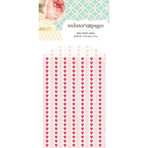 Webster's Pages - Modern Romance Collection - Mini Craft Bags - Hearts - Pink