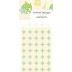 Websters Pages - New Beginnings Collection - Mini Craft Bags - Polka - Blue and Cream