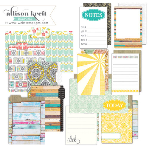 Websters Pages - Composition and Color Collection - Mini Folders and Cards Set