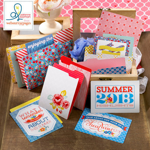 Websters Pages - Adrienne Looman - Citrus Squeeze Collection - Mini Folders and Cards Set