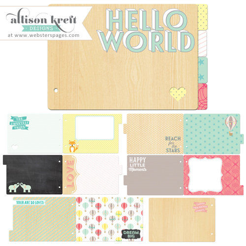 Websters Pages - Hello World Collection - Chipboard Album