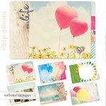 Websters Pages - Dream in Color Collection - Chipboard Album