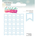 Websters Pages - Dream in Color Collection - Paperclips - Flag - Blue