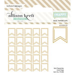 Websters Pages - Happy Collection - Paperclips - Flag - Gold