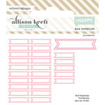 Websters Pages - Happy Collection - Paperclips - Banner - Pink