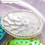 Websters Pages - New Beginnings Collection - Sequin Polka Dots - Matte White