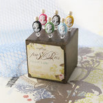 Websters Pages - Push Pins - Long Needle - Cameo