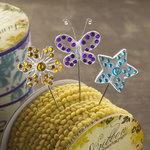 Websters Pages - Western Romance Collection - Push Pins - Long Needle - Sparkle
