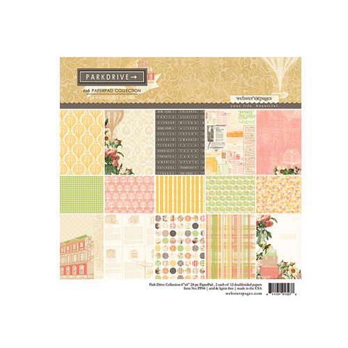 Websters Pages - Park Drive Collection - Petite Paper - 6 x 6 Paper Pack