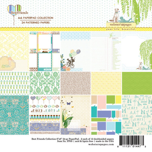 Websters Pages - Best Friends Collection - Petite Paper - 6 x 6 Paper Pack