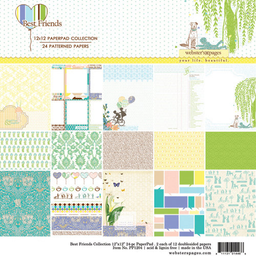 Websters Pages - Best Friends Collection - 12 x 12 Collection Pad