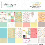 Websters Pages - Hello World Collection - 12 x 12 Paper Pad